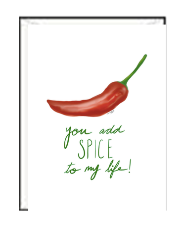Spice Up My Life Valentine Greeting card