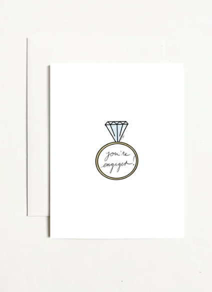 You're Engaged Greeting Card