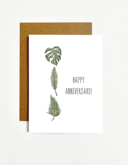 Happy Anniversary Plants Greeting Card