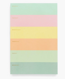 Color Block Weekly Memo Pad
