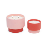 Pink/Coral Grapefruit Ceramic Candle
