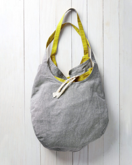 Gemini Reversible Cotton Tote - Dark Grey/Yellow