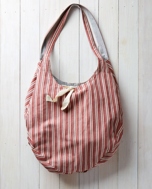 Gemini Reversible Cotton Tote - Light Grey/Red Brick