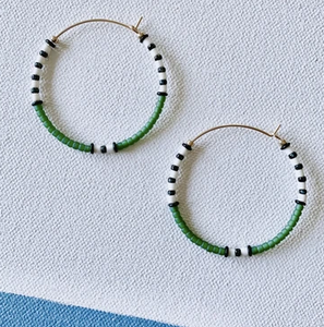 Earrings - Big Color Loop Emerald