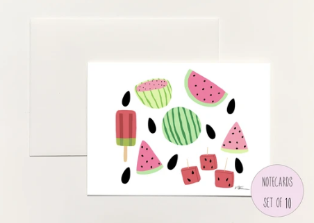 Watermelon Foldover Notecard