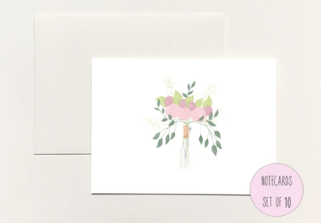 Wedding Bouquet Boxed Notecards
