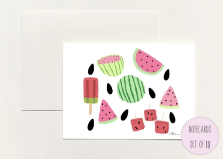 Watermelon Boxed Notecards