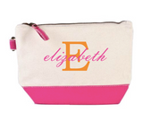 Pink Bottom Canvas Cosmetic Bag