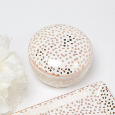 Round Trinket Box - Smudge Dot