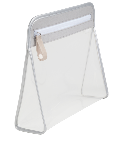 Clarity Pouch Large - Grey Silver