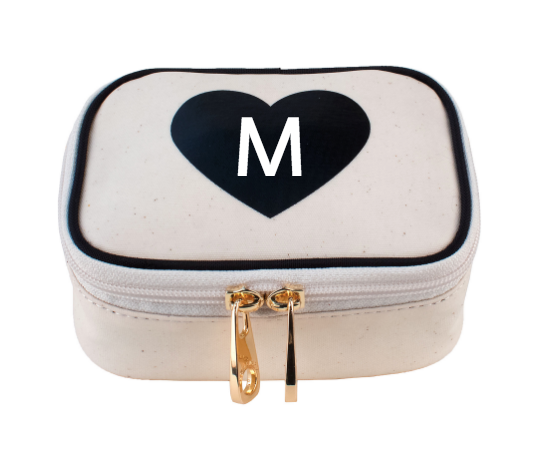 Zoe Mini Jewelry Bag - Heart