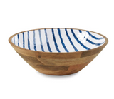 Porto Wood and Enamel Bowl - Large