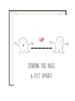 Social Distance Hug Greeting Card