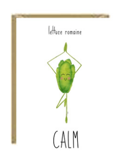 Romaine Calm Greeting Card