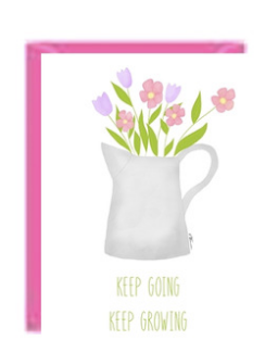 Keep Growing keep Going Greeting Card