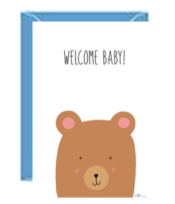 Welcome Baby Bear Greeting Card