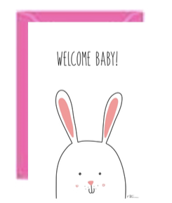 Welcome Baby Bunny Greeting Card