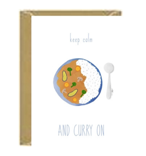 Curry On Greeting Card