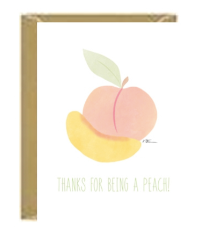 Peach Thank You Greeting Card