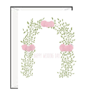Floral Arch Wedding Day Greeting Card