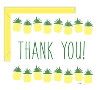 Pineapple TY Greeting Card