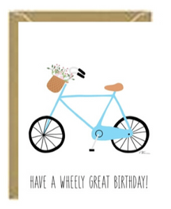 Wheely Bday Greeting card