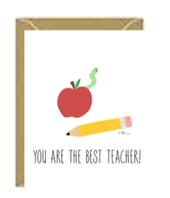 You are the Best Teacher Greeting Card