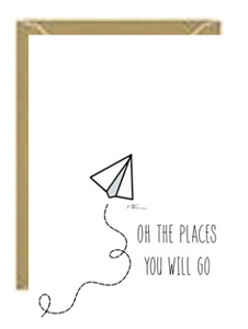 Oh the Places Greeting Card