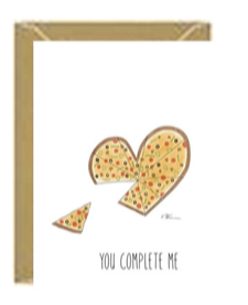 Pizza Heart Greeting Card