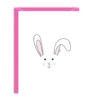 Bunny Head Greeting Card