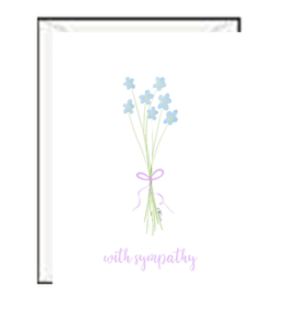 Thinking of You - Blue Flowers Greeting Card