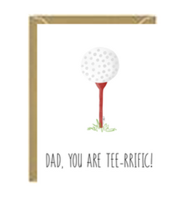 Fathers Day Tee-rific Greeting Card