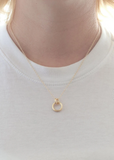 Double Link Charm Necklace - Gold