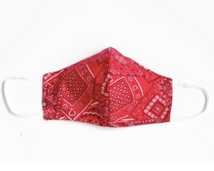 Face Mask with Filter - Bandana Red