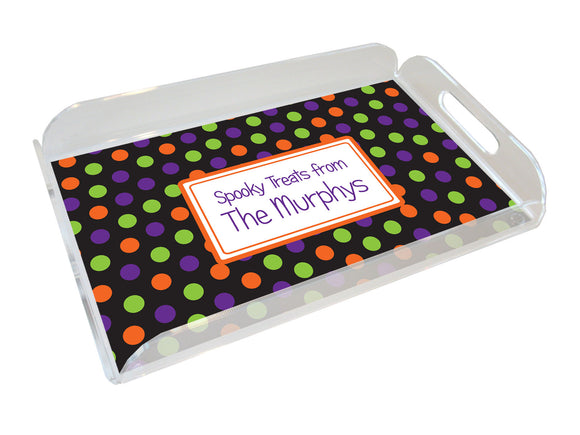 halloween personalized lucite tray