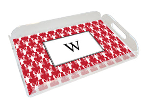 lobsters personalized lucite tray