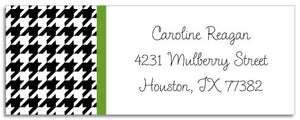 black houndstooth address labels