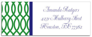 garden gate green address labels