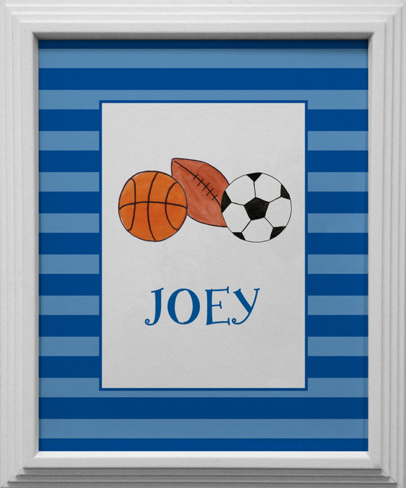 sports fan kids wall art