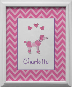 poodle kids wall art