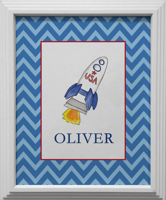 blast off kids wall art