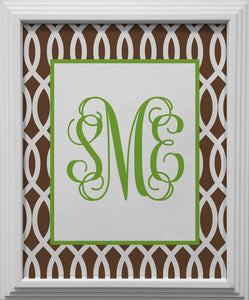 garden gate brown personalized wall art