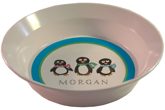 penguin parade personalized kids bowl