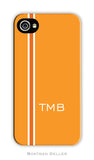 Racing Stripe Orange Cell Phone Case