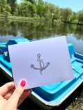 Nautical Folded Notecards - Anchor