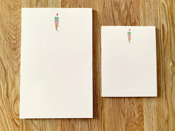 Ice cream Cone NotePad - small