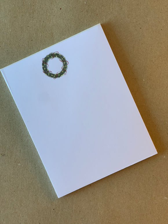 Holiday Notepad - Wreath