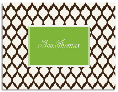 brown lattice folded notecards