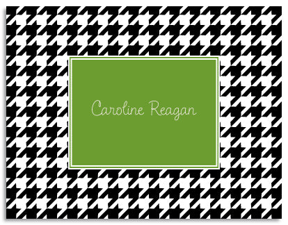 black houndstooth folded notecards