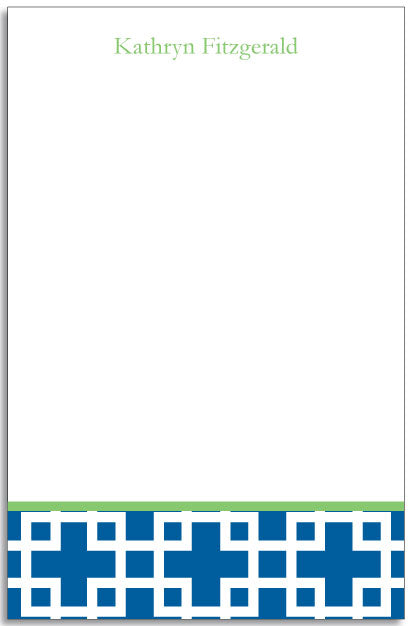squared blue personalized notepad